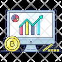 Bitcoin Profit Growth Chart Online Data Icon