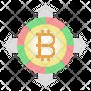 Bitcoin Profit Bitcoin Benefit Increase Icon