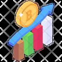 Bitcoin Rise Bitcoin Analytics Bitcoin Statistics Icon