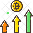 Bitcoin Profit Graph Icon
