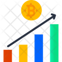 Bar Chart Bitcoin Profit Graph Profit Graph Icon