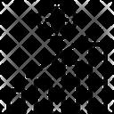 Bitcoin Profit Graph Icon