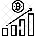 Bar Chart Bitcoin Profit Graph Profit Graph Icon