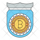 Bitcoin Protection Cryptocurrency Icon