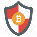 Bitcoin Protection Secure Bitcoin Bitcoin Shield Icon