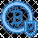 Bitcoin Protect Money Icon