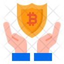 Bitcoin Protect Money Icon