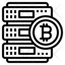 Bitcoin Network Money Icon