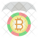 Bitcoin Protection Blockchain Digital Currency Icon