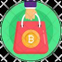 Bitcoin Bag Bitcoin Shopping Bitcoin Buying Icon