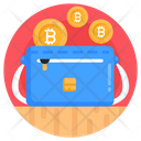 Bitcoin Wallet Bitcoin Purse Handbag Icon