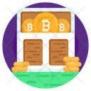 Bitcoin Warehouse Bitcoin Rack Cryptocurrency Rack Icon