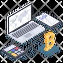 Bitcoin Rate Bitcoin Calculation Digital Money Icon