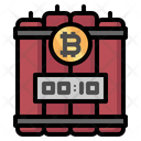 Bitcoin Rate Bounce Icon