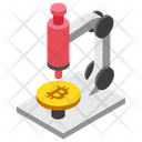 Bitcoin Research Bitcoin And Microscope Cryptocurrency Research Icon