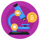 Money Research Bitcoin Research Bitcoin Microscope Icon