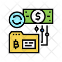 Bitcoin Reverse Reverse Initial Icon