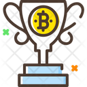 Bitcoin Reward Trophy Icon