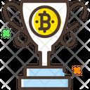 Reward Bitcoin Reward Trophy Bitcoin Trophy Icon