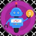 Money Robot Bitcoin Robot Bitcoin Trading Robot Icon