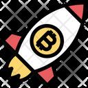 Bitcoin Rocket Bitcoin Space Ship Icon