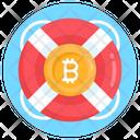 Bitcoin Protection Bitcoin Safety Bitcoin Rescue Icon