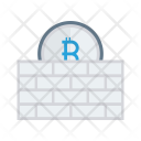 Bitcoin Safety Wall Icon