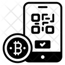 Bitcoin Scanning Qr Code Access Bitcoin Barcode Icon
