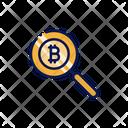 Bitcoin Search Search Bitcoin Icon