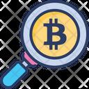 Bitcoin Search Examine Icon
