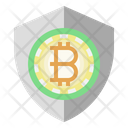 Bitcoin Secure Security Guard Icon