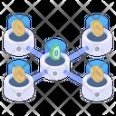 Bitcoin Secure Network Icon