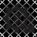 Blockchain Security Key Icon