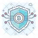 Bitcoin Security Bitcoin Protection Cryptocurrency Security Icon
