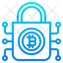 Bitcoin Cryptocurrency Lock Icon