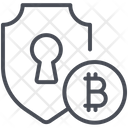 Bitcoin Security Shield Icon