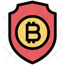 Bitcoin Security Bitcoin Protect Icon
