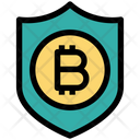 Bitcoin Security Protect Transaction Icon