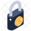 Bitcoin Security Digital Money Protection Bitcoin Lock Icon