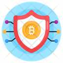 Bitcoin Safety Cryptocurrency Security Digital Currency Icon