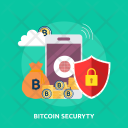 Bitcoin Security Gold Icon