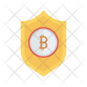 Bitcoins Security Shield Icon