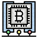 Bitcoin Server Database Cyptocurrency Icon