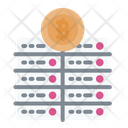 Bitcoin Server Server Cryptocurrency Icon