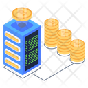 Bitcoin Server Connected Blockchain Bitcoin Technology Icon