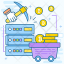 Bitcoin Cart Bitcoin Trolley Bitcoin Pushcart Icon