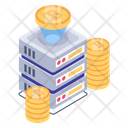 Bitcoin Blockchain Tech Bitcoin Server Technology Icon