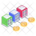 Bitcoin Servers Connected Blockchain Bitcoin Technology Icon