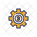 Bitcoin Setting Setting Configuration Icon