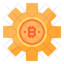 Management Money Bitcoin Cryptocurrency Bitcoin Setting Bitcoin Management Icon